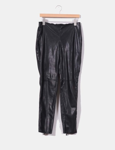 Pantalon noir similicuir skinny 36185f093eac