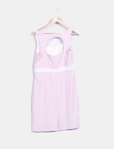 Vestido rosa palo recto