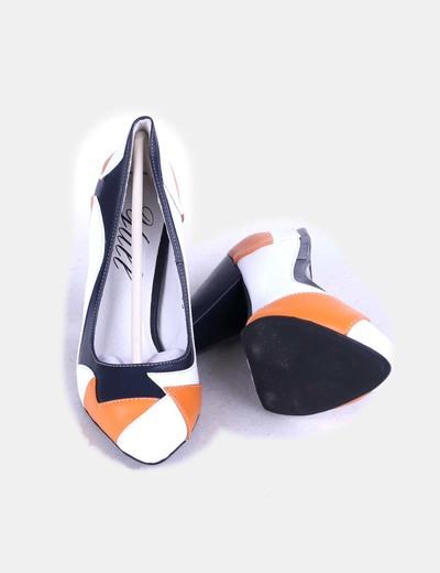 Zapatos heels primrose tricolor naranja