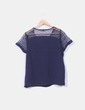 Camisa azul marino combinada Esmara
