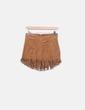 Mini saia marrom camurça Pull&Bear