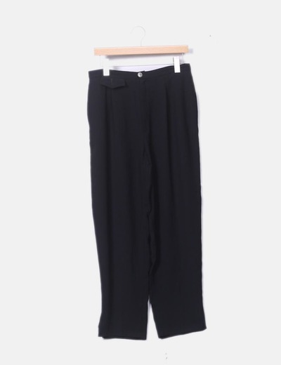 Pantalón fluido negro
