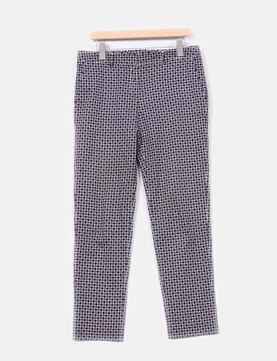 Pantalón azul marino con topos Purificación García