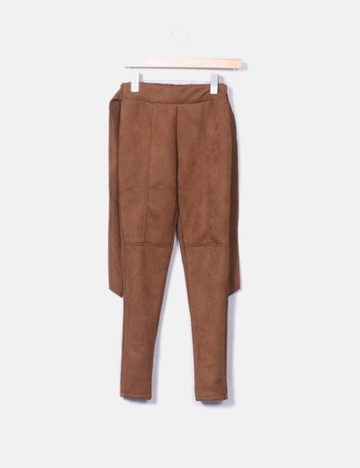 Pantalon antelina marron