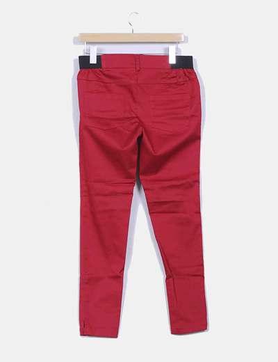 Leggings rojo detalle goma