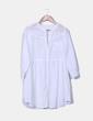 Camisola blanca de manga francesa NoName