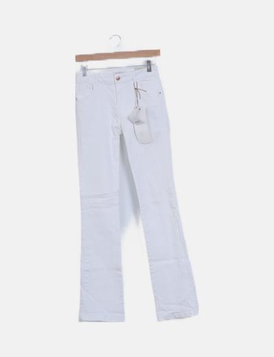 Jeans blanco campana boot cut