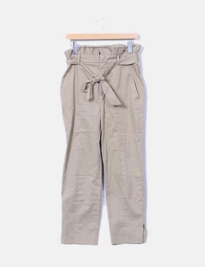 Pantalón chino verde Zara
