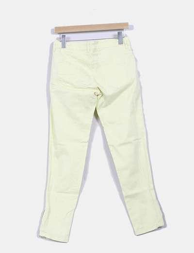 Pantalon amarillo limon