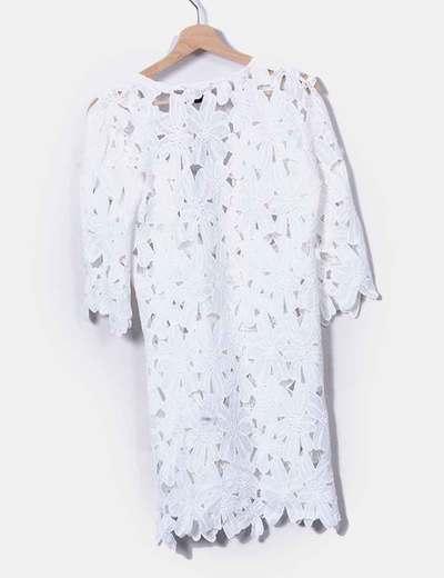 Vestido blanco encaje primark