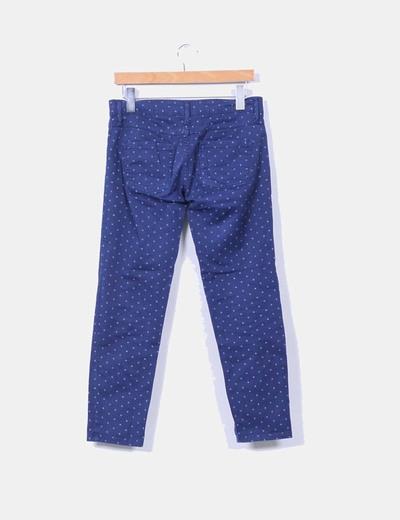 Pantalon azul con topos