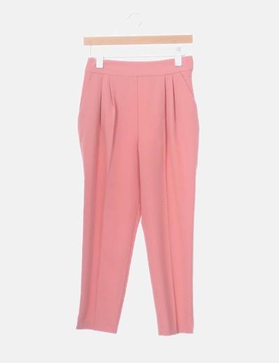Pantalón chino rosa