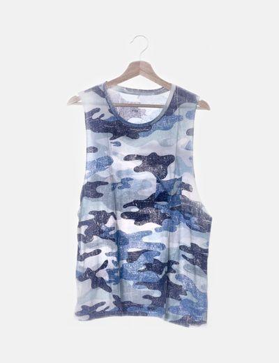 Camiseta camuflaje azul