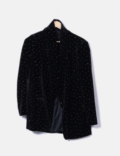 Blazer negra con strass Zara