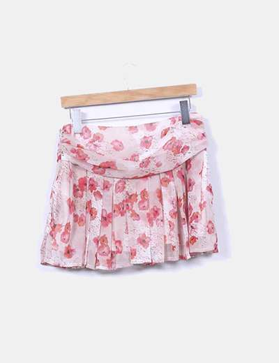 Mini falda floral de gasa