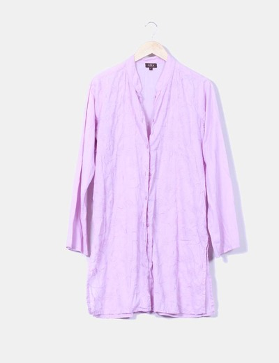 Camisa malva bordada aïta