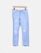 Jeans bleus slim clair Suiteblanco