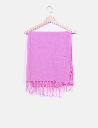 Bufanda rosa fucsia con flecos H&M