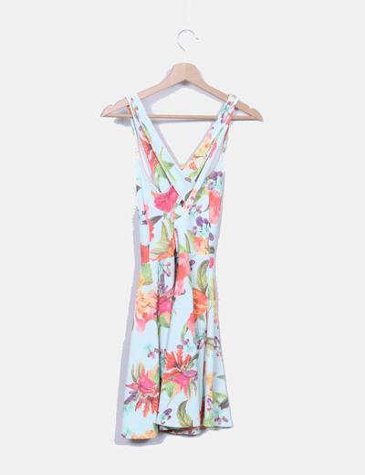 Vestido tirantes floral multicolor