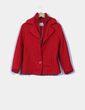 Abrigo rojo de lana Agua Viva