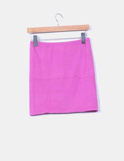 Mini falda rosa fucsia de punto