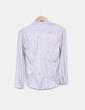 Blusa manga larga texturizada plateada H&M