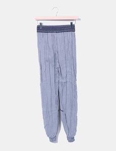 Pantalón baggy estampado gris Oysho 04b04dafff7d