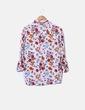 Camisa estampado floreado bolsillos delanteros Trafaluc