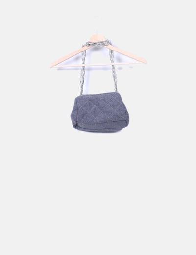 Bolso lana gris con cadenas