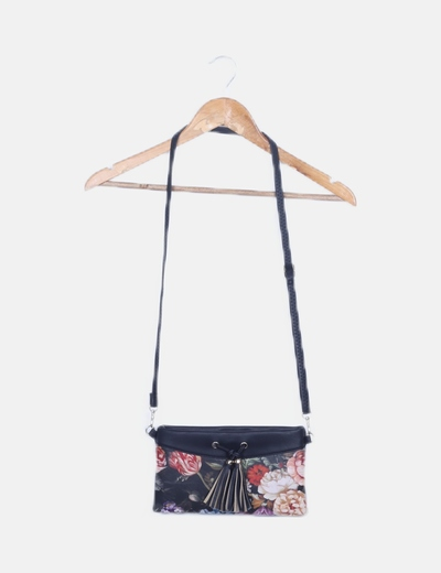 Bolso negro floral