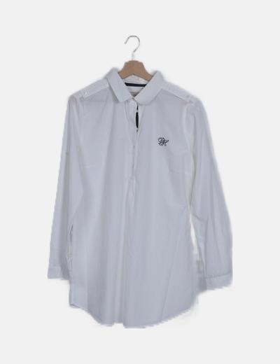 Vestido camisero blanco manga larga