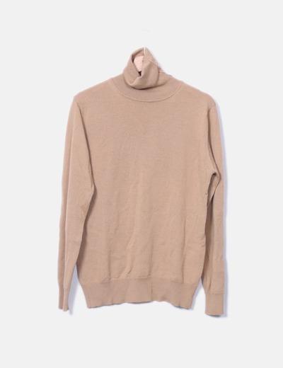 Jersey marrón cuello alto Zara