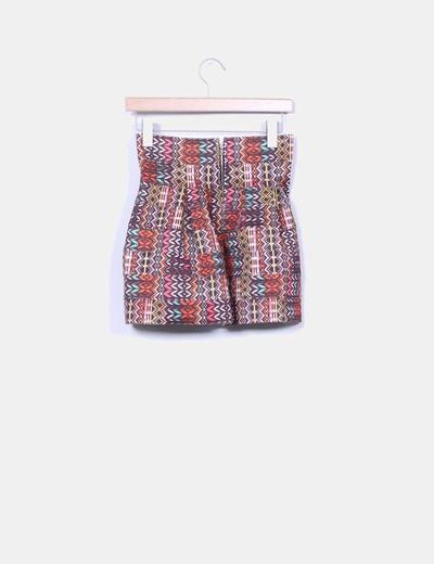 Falda rigida estampado multicolor