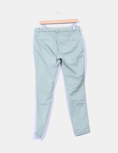 Pantalon chino verde