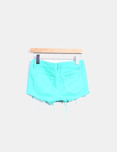 Shorts denim verde ripped