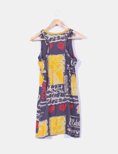 Vestido mini print