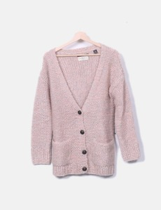 Chaqueta de punto rosa y gris Maison Scotch 526d3b4caaaa