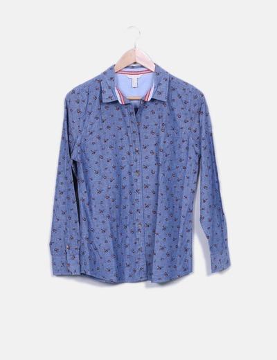Camisa denim estampado floral Spring
