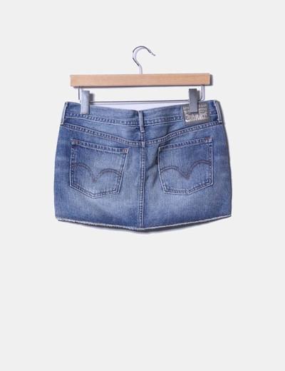 comprar online 8fa20 8ea7e Mini falda vaquera Levi's