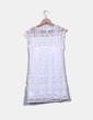 Vestido midi de encaje blanco NoName