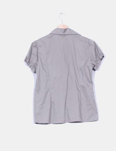 Camisa camel manga corta