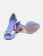 Zapato de tacón azul combinado peep toe Otto et moi