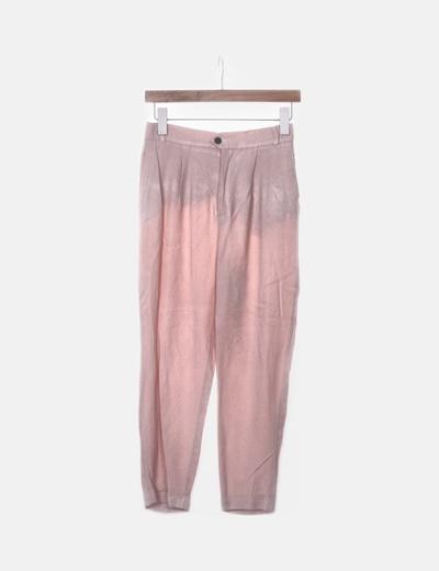 Pantalón fluido rosa