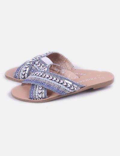Sandalia azul strass