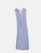 Vestido de punto azul jaspeado sin mangas Massimo Dutti