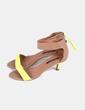 Sandalias amarillo flúor Zara