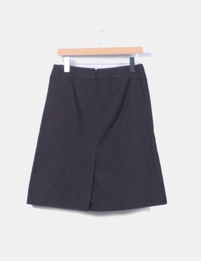 Falda midi texturizada