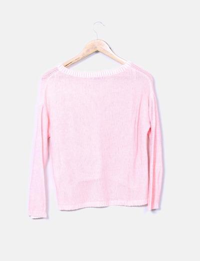 Jersey rosa fluor tail hem