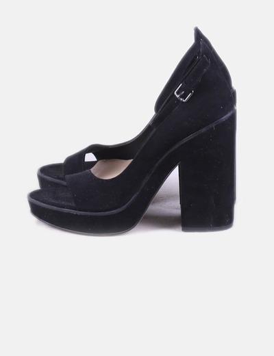 meilleur en ligne classique arrive Sandales noires en velours
