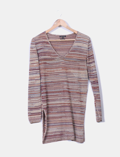 Robe multi-couleurs rayée Massimo Dutti